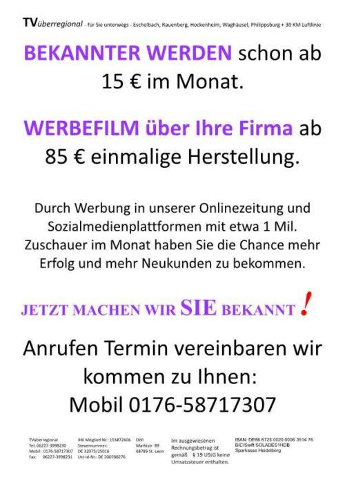 INFO NEUKUNDEN BEKOMMEN Walldorf Reilingen Philippsburg Rauenberg Eschelbach Waghäusel Hockenheim