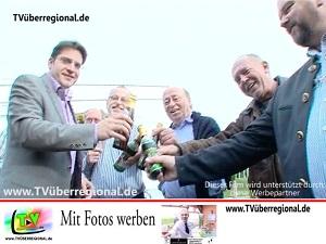 Bürgermeister Stefan Weisbrod eröffnet die Reilinger Kerwe 2013