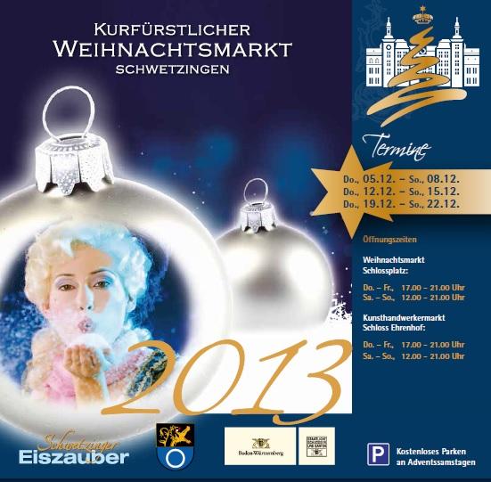 Weihnachtsmarkt Schwetzingen.3 Kurfürstlicher Weihnachtsmarkt Schwetzingen Tvueberregional