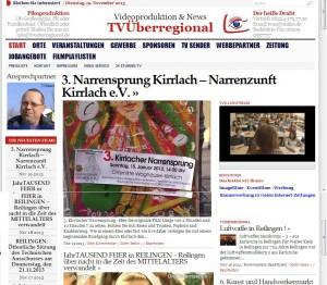 Zeitung Narrensprung Kirrlach - LOKAL Zeitung WaghäuselTV http://www.waghaeuseltv.de
