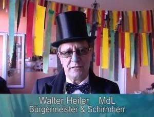 Walter Heiler jetzt Oberbürgermeister in der Kreisstadt Waghäusel, Schirmherr vom Narrensprung Kirrlach