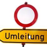 Neckarsulm, Heilbronner Straße, Sperrungen wegen Abbruch und Aufbau