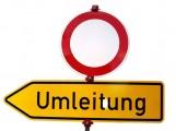 Baiertal – Sperrung der Mühlstraße