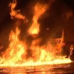 Heidelberg Brand von Mülleimer greift auf geparkte Autos über