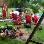 Vierjähriger Junge in Gartenpool ertrunken
