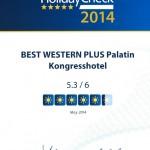 Das BEST WESTERN PLUS Palatin Kongresshotel feiert eine weitere Auszeichnung