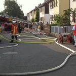 Dachgeschossbrand in Einfamilienhaus