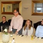 BdS begrüßt drei neue Mitglieder beim Spargelessen