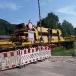 Bahnstrecke gesperrt