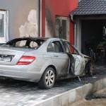 Dielheim – Fahrzeugbrand an Hausfassade