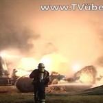 Östringen-Eichelberg – Flächenbrand bei Mähdrescherarbeiten
