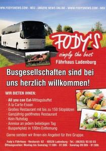 Busgesellschaften sind bei Fody´s Fährhaus in Ladenburg herzlich willkommen