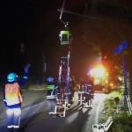 Unfall aufgrund Übermüdung; Fahrzeug überschlug sich