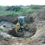 Neulussheim Knochenfund auf Baustelle