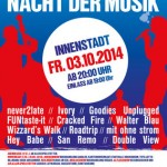 3. Hockenheimer Nacht der Musik  – Freitag, 03.10.2014