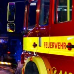 Kleinbagger in Brand geraten