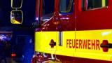 Kleinbagger in Brand geraten