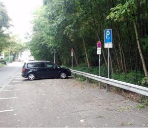 Wiesloch - die Parkplätze der Parkstraße müssen gesperrt werden