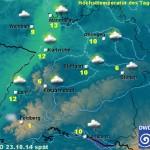 DWD: Das Wetter heute – wahrscheinlich