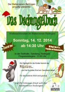 Reiterverein Reilingen mit dem Thema Dschungelbuch Weihnachtsreiten