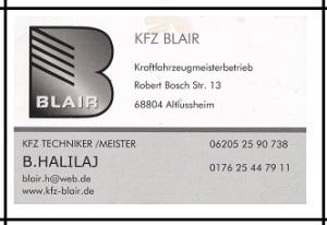 KFZ Blair Autowerkstatt Altlussheim