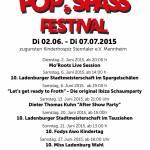 Pop- und Spassfestival 2015 bei Restaurant Fodys Fährhaus Ladenburg