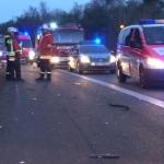 Hockenheim: Schwerer Unfall auf der A 61 mit Pannenfahrzeug