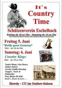 Countryfest - in Eschelbach wird am Anfang Juni 2015 die Zeit um 400 Jahre zurück gedreht