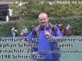 Adventure und Fun – Gruppenreisen und Events – Veranstaltungen auf dem Gelände des Eventrestaurants Gaststätte Fodys Fährhaus Ladenburg