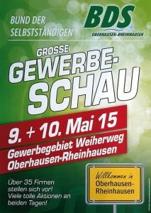 Große Gewerbeschau in Oberhausen Rheinhausen vom BDS im Gewerbegebiet Weiherweg