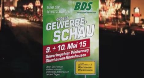Oberhausen Gewerbeschau 2015 Ankündigung