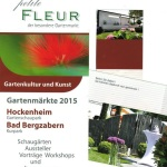 Petite FLEUR der besondere Gartenmarkt in Hockenheim zu Christi Himmelfahrt – Vatertag – 14 – 5 – 2015 bis zum Sonntag den 17 – 5 – 2015 auf dem Gartenschaupark in Hockenheim