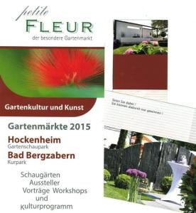 Petite FLEUR der besondere Gartenmarkt in Hockenheim zu Christi Himmelfahrt - Vatertag - 14 - 5 - 2015 bis zum Sonntag den 17 - 5 - 2015 auf dem Gartenschaupark in Hockenheim