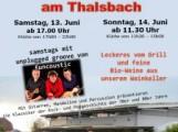 Wein- und Forellenfest am Thalsbach in Östringen am Samstag 13 – 6 – 2015 bis Sonntag 14 – 6 – 2015