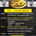 XXL Biker Party – Bikerfreunde, Bikertreffen, Rock Openair – alle willkommen – auch ohne Bike – Jubiläum – 20 Jahre XXL Bikers St Leon