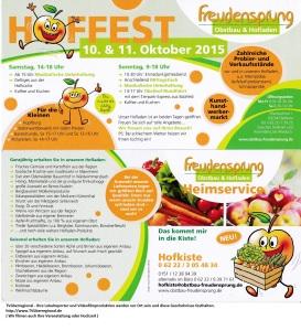 Hoffest und Kunsthandwerkermarkt - Spielparadies und Ponyreiten in Dielheim - bei Freudensprung am 10 Okt und 11 Okt 2015