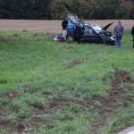 Schwerer Unfall auf der L612 – keine Personenschäden – Gott sei Dank