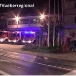 Sinsheim: Brand eines Holzsilos im Industriegebiet