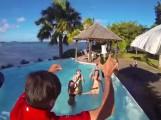 Firmentreffen oder Partys auf der KARIBIK  INSEL – MARTINIQUE – Kleine Antillen – Marcel und Tina organisiersen