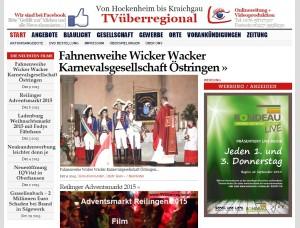Fahnenweihe Wicker Wacker Karnevalsgesellschaft Östringen