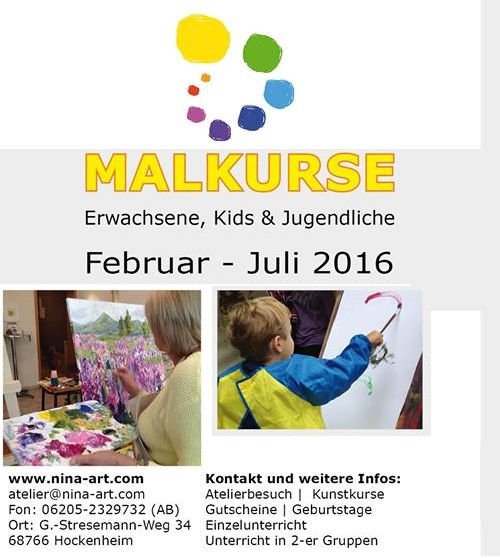 malkurse februar 2016 bei k nstlerin nina kruser entspannung f r eltern und kinder f rderung. Black Bedroom Furniture Sets. Home Design Ideas