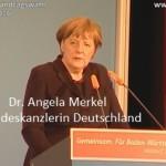 Bundeskanzlerin Dr Angela Merkel Information an das Volk in Walldorf