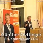 Günther Oettinger CDU – EU Kommissar in Dielheim