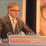 Walldorf – Bundestagsabgeordneter Guido Wolf CDU spricht zu den Bürgern