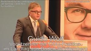 Walldorf - Bundestagsabgeordneter Guido Wolf CDU spricht zu den Bürgern