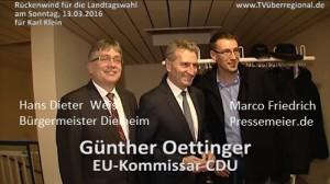 Dielheim - Hans Dieter Weis - Bürgermeister im TVüberregional Fernsehen