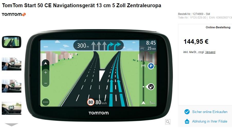 Navigationsgerät Tom Tom