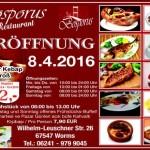 WORMS – 08.04.16 NEUERÖFFNUNG – Grill Restaurant Bosporus – Wilhelm Leuchner Strasse 26 – Essen wie in einem Restaurant am Bosporus