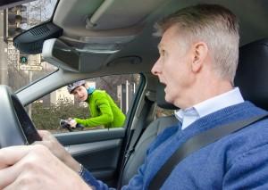 Heidelberg - Aktion plus5 - Achtung - Schulterblick - Deutlicher Anstieg der Abbiegeunfälle im Radverkehr Radler unter den Berufspendlern und Studenten fahren vorsichtiger
