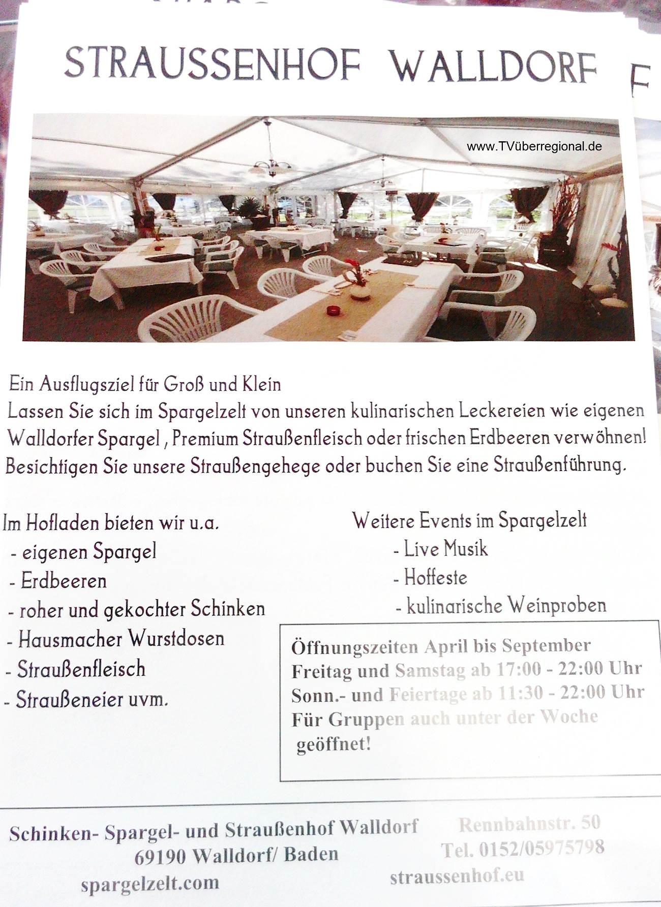 Straussenhof Walldorf - Ausflugsziel für klein und gross
